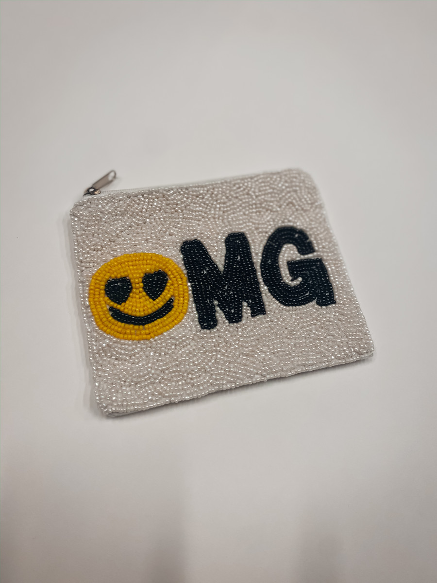 OMG Beaded Pouch