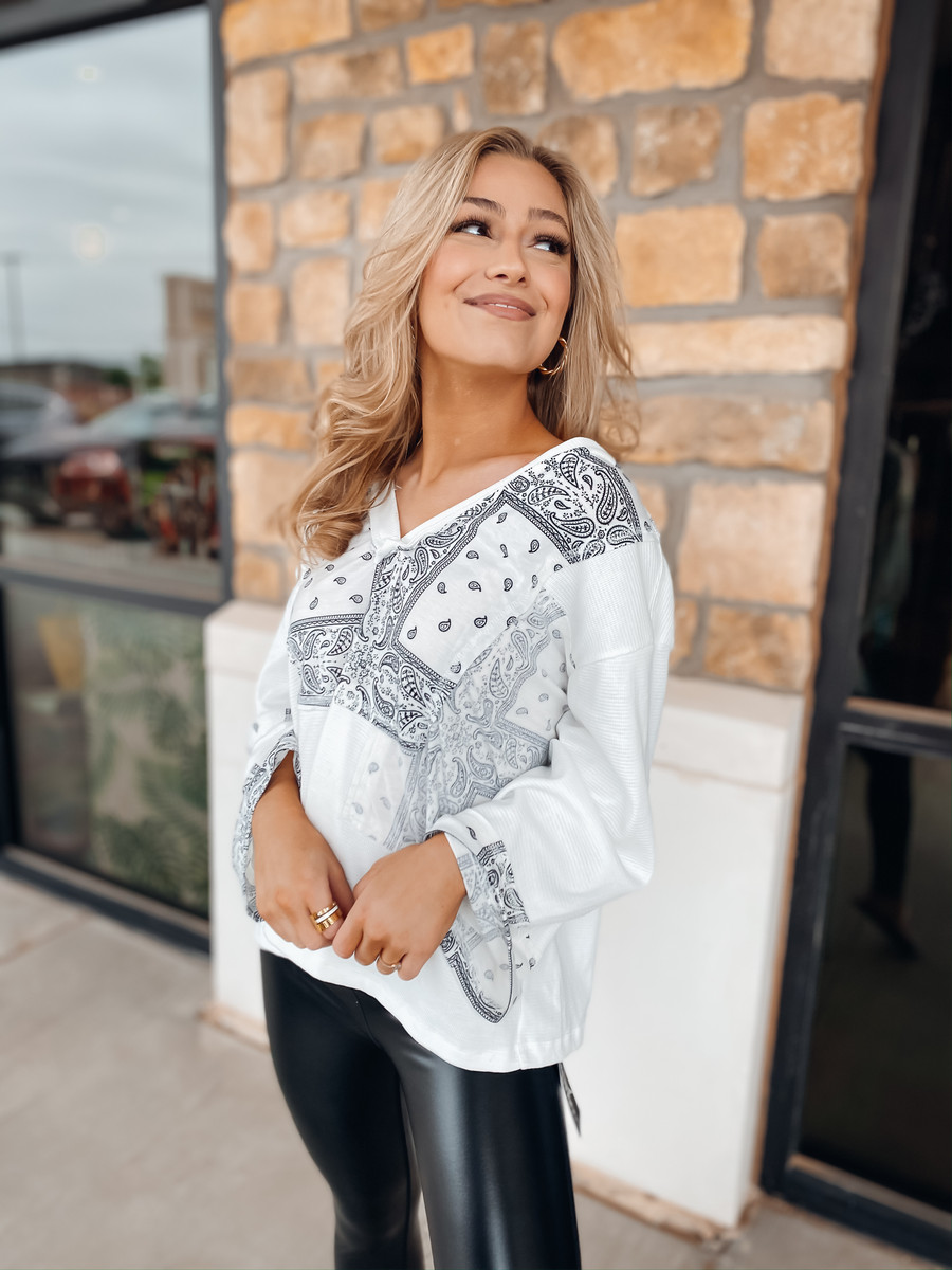 Paisley Blocked Out Top