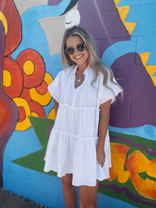 WHT Gauze Boho Tiered Dress