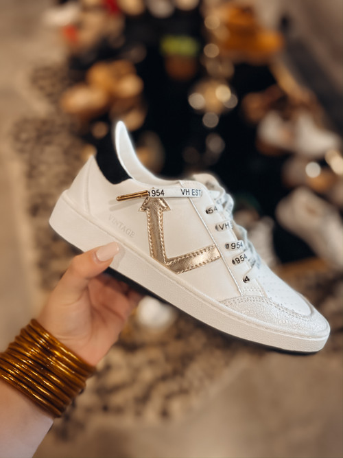 Remedy White Gold Sneakers