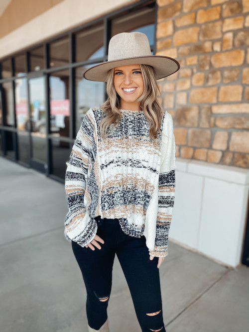 Almond Cabin In The Woods Sweater