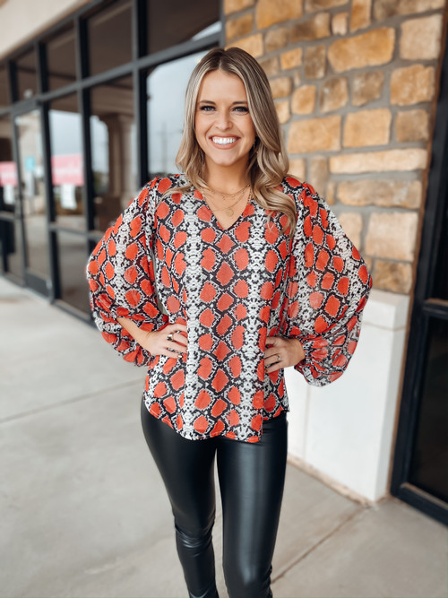 Slither Red + Black Game Day Top