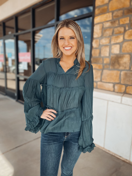 Babes Of Fall Tiered Top