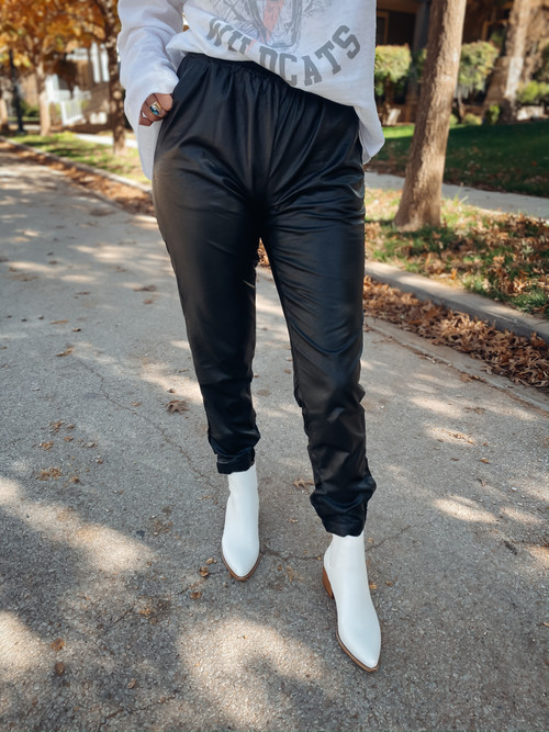 Wild N Free Leather Jogger