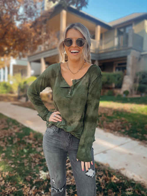 Cozy For Fall Tie Dye Top