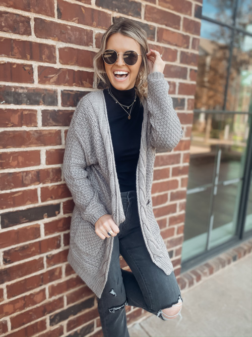 Mocha On The Go Cardigan
