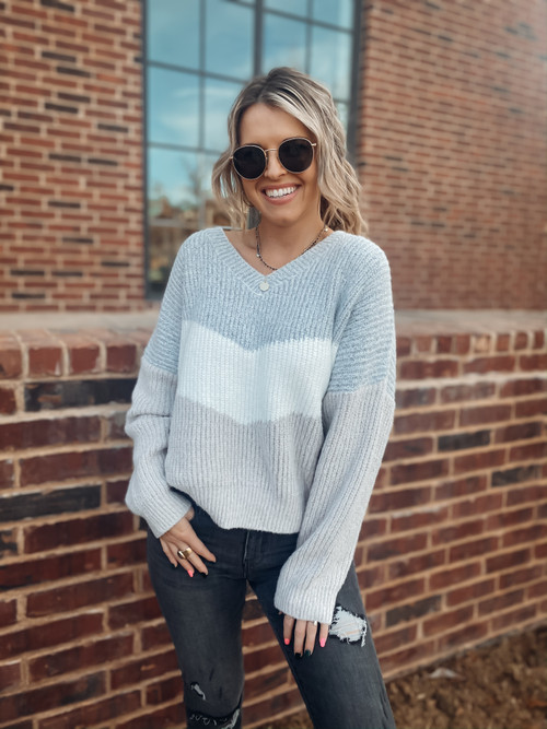 Up In The Clouds Chevron Sweater
