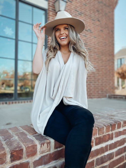 Twisted Up Sweater Tunic