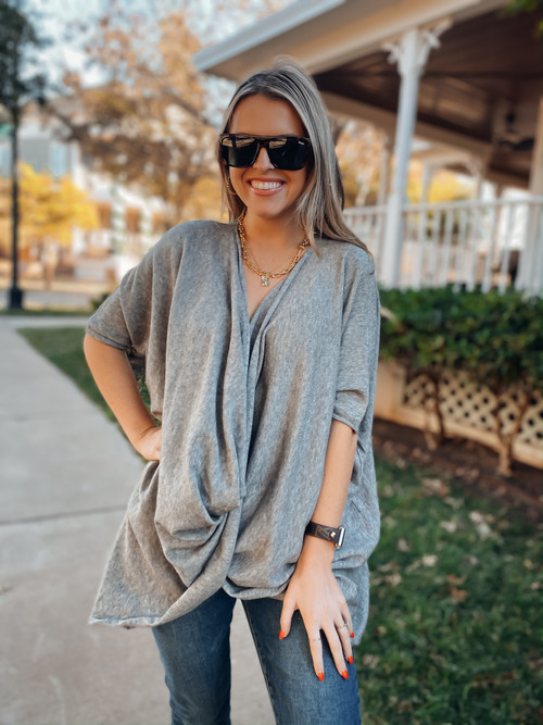Grey In Love Top