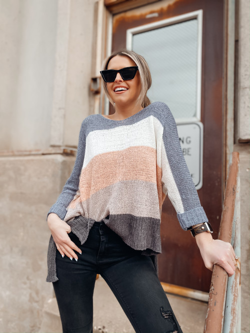 Rosemary Beach Colorblock Knit
