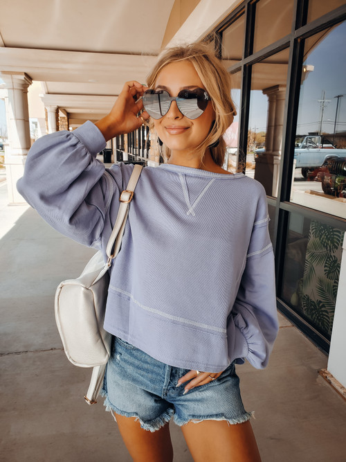 Periwinkle So In Love Bubble Top