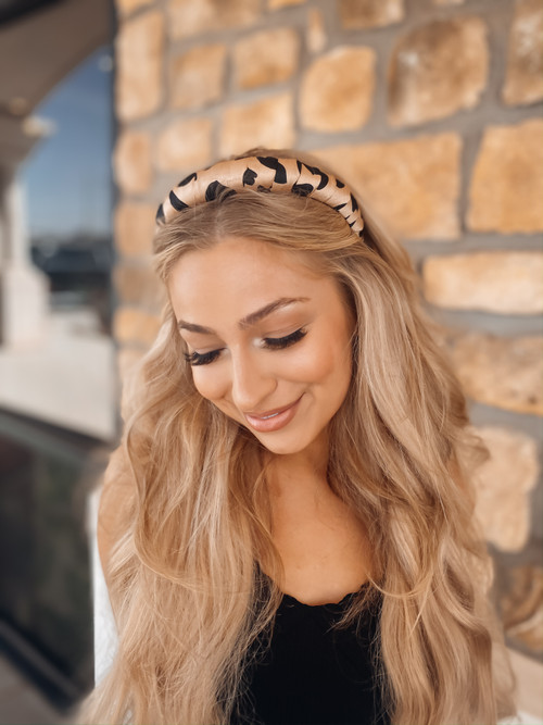 Satin Spotted Headband