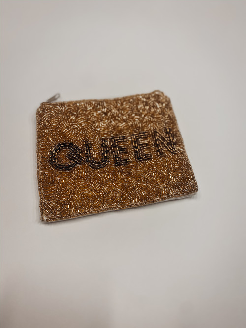 Queen Beaded Pouch