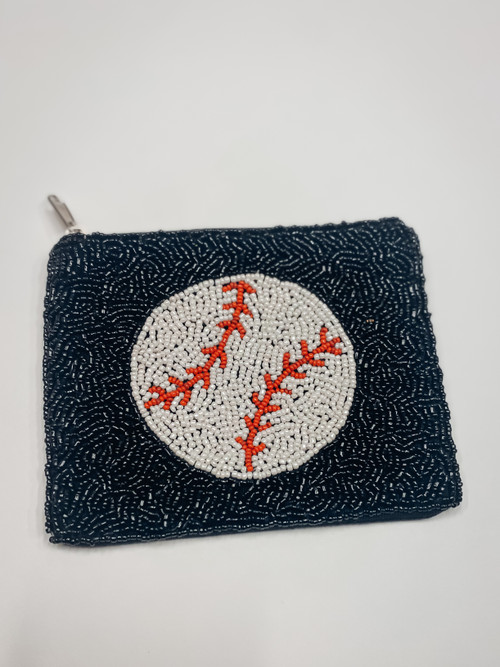 Baseball Beaded Pouch