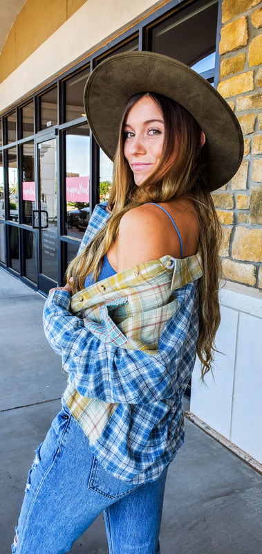 Wyoming Summer Plaid Top