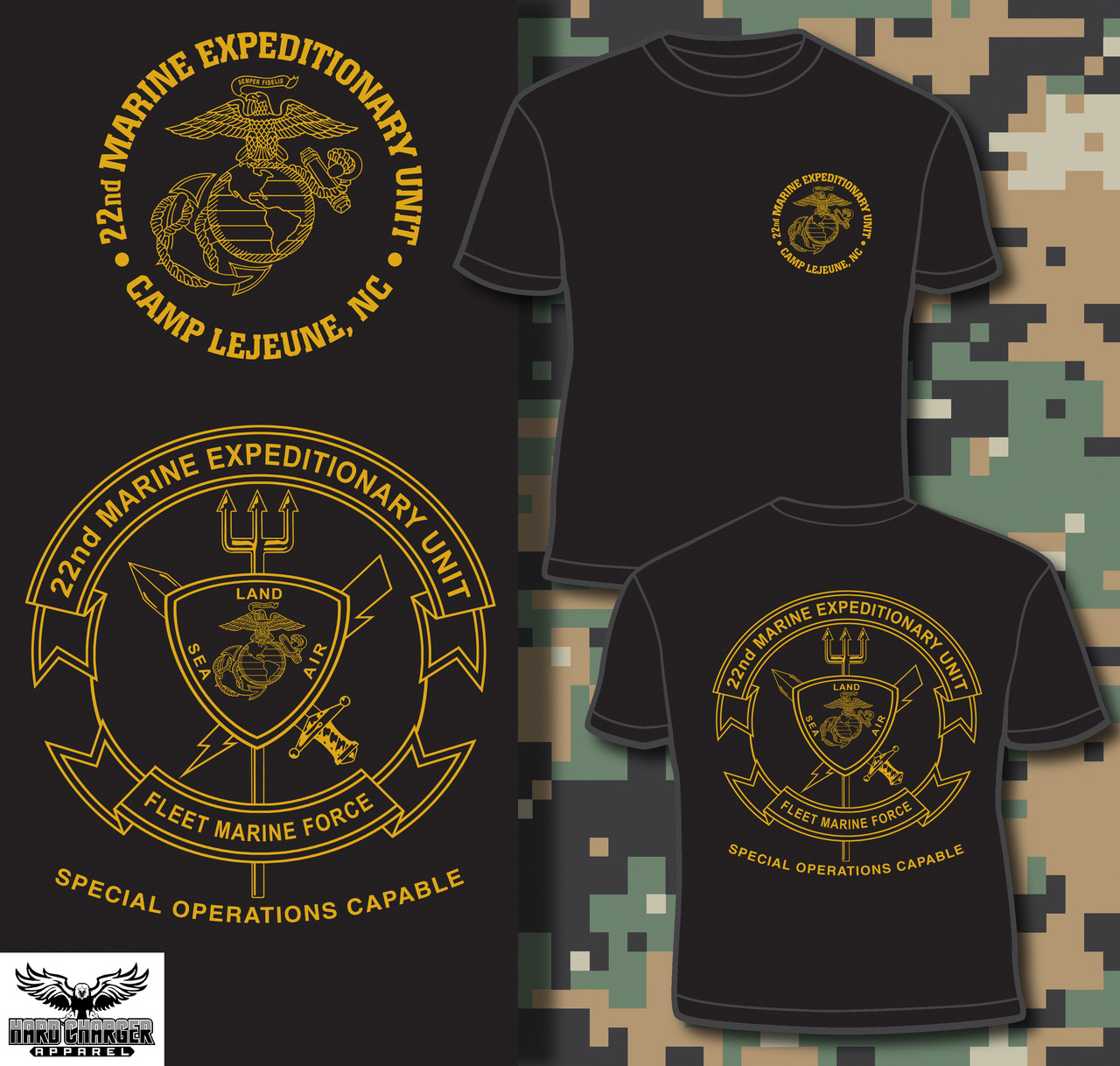 competitive price 25534 44934 22nd Marine Expeditionary Unit T-shirt
