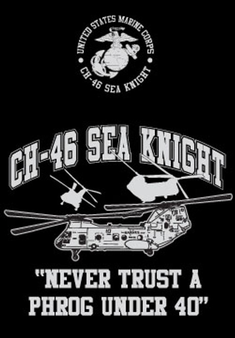 CH-46 Helo Long Sleeve T- Shirt