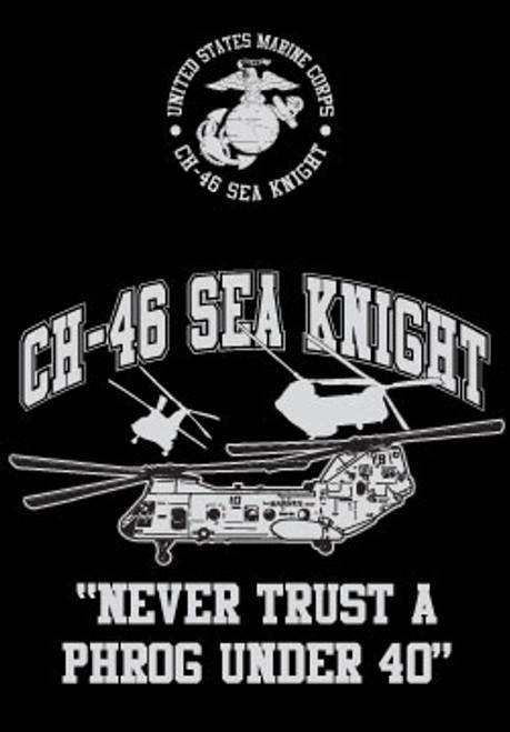 CH-46 Helo Long Sleeve T- Shirt