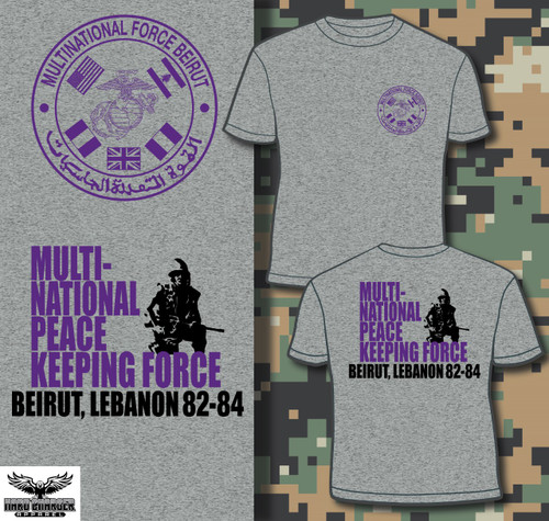 Beirut - Multi-National Peace Keeping Force T-shirt