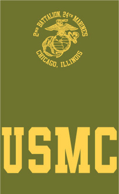 2nd Battalion, 24th Marines Chicago, IL Reserve T-shirt