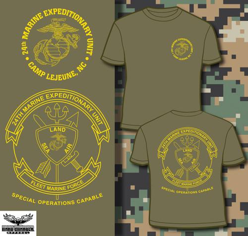 24th Marine Expeditionary Unit (24th MEU) Long Sleeve T-Shirt