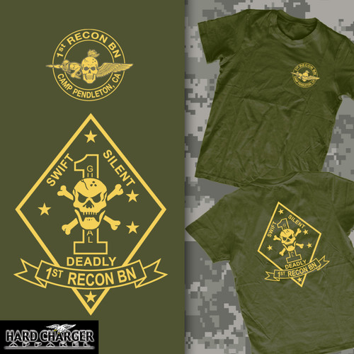 1st Recon Battalion Long Sleeve T-Shirt