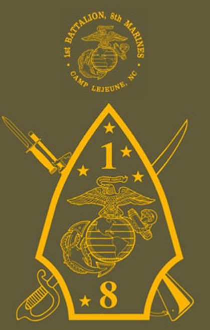 1st Battalion, 8th Marines Long Sleeve T-Shirt