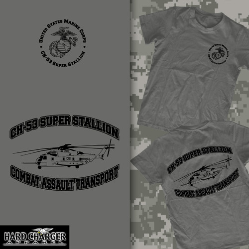 CH-53 Super Stallion Helicopter Long Sleeve T-shirt