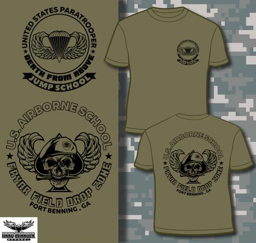 Fort Benning Airborne Jump School Fryar Field Jump Zone  shirt