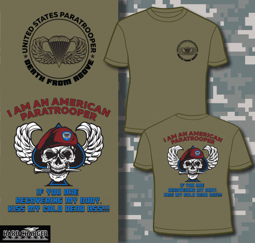 US Army Paratrooper 82nd Airborne 101st Fort Bragg Benning Campbell shirt