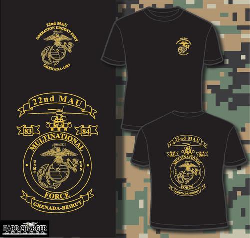 22nd MAU Grenada Operation Urgent Fury T-shirt