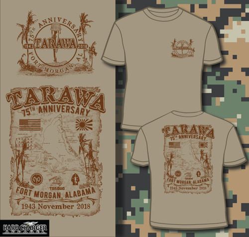 Tarawa 75th Anniversary Fort Morgan short sleeved T-shirt
