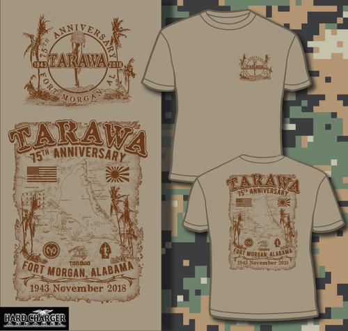 Tarawa 75th Anniversary Fort Morgan short sleeved T-shirt