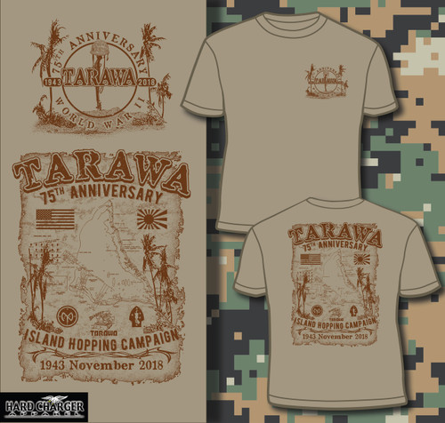 Tarawa 75th Anniversary Island Hopping short sleeved T-shirt
