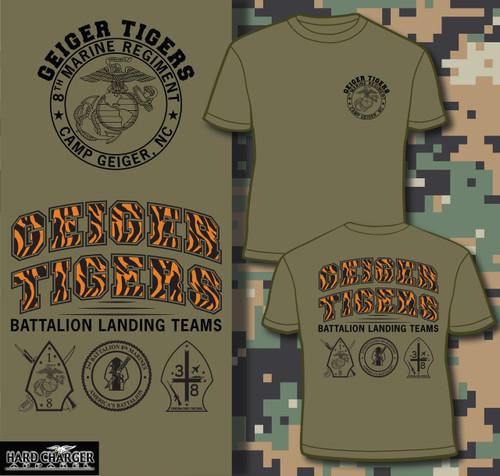8th Marines -  Camp Geiger, NC  Geiger Tigers T-shirt