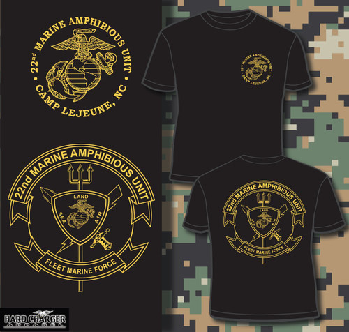 22nd Marine Amphinbious Unit (22nd MAU) T-shirt