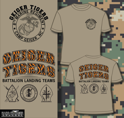 8th Marines - Camp Geiger, NC Geiger Tigers Long Sleeve T-shirt