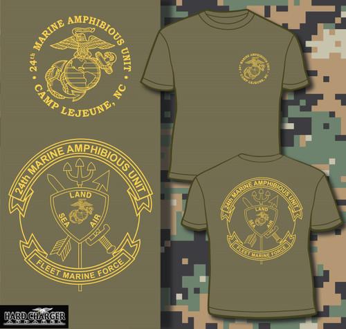 24th Marine Amphinbious Unit (24th MAU) Long Sleeve T-shirt