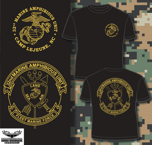 32nd Marine Amphinbious Unit (32nd MAU) Long Sleeve T-shirt