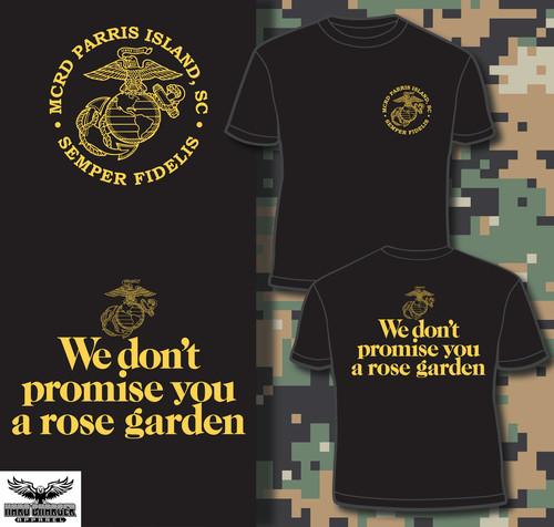 Parris Island Recruit Depot Rose Garden Long Sleeve T-shirt