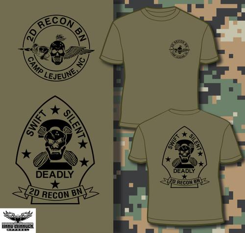 2D Recon BN Camp Lejeune T-shirt