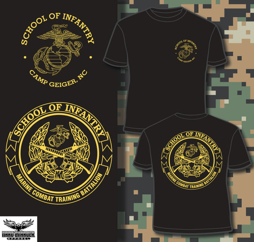 School of Infantry Camp Geiger T-shirt new