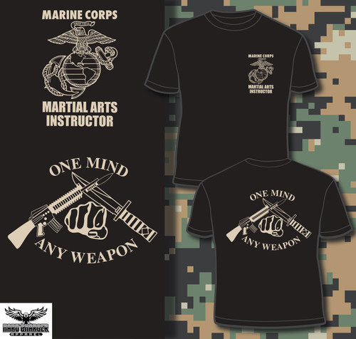 Martial Arts Instructor (Tan Logos) T-shirt