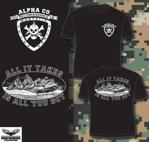 Alpha Company 3rd Recon White Logo T-shirt