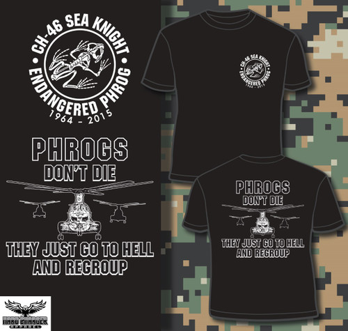 CH-46 Sea Knight Phrogs Regroup T-shirt