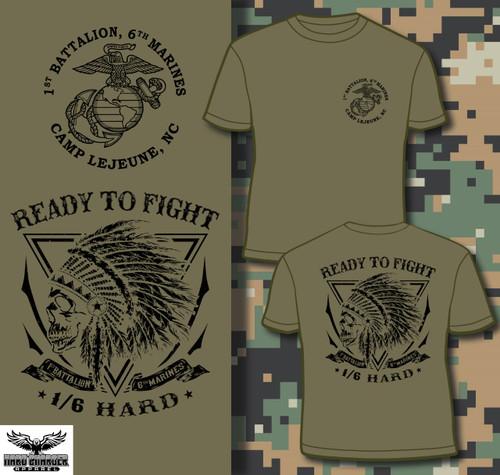 1st Battalion 6th Marines BN T-shirt