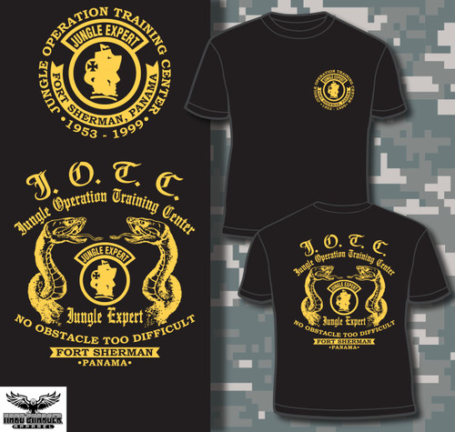 JOTC - Fort Sherman, Panama T-shirt -gold logos