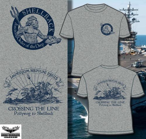US Navy Marine Corps Shellback Crossing the line T-shirt