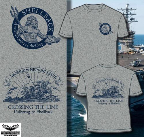 US Navy Marine Corps Shellback Crossing the line LONG SLEEVE T-shirt