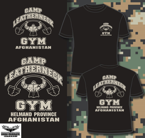 Camp Leatherneck Gym Afghanistan Crewneck sweatshirt